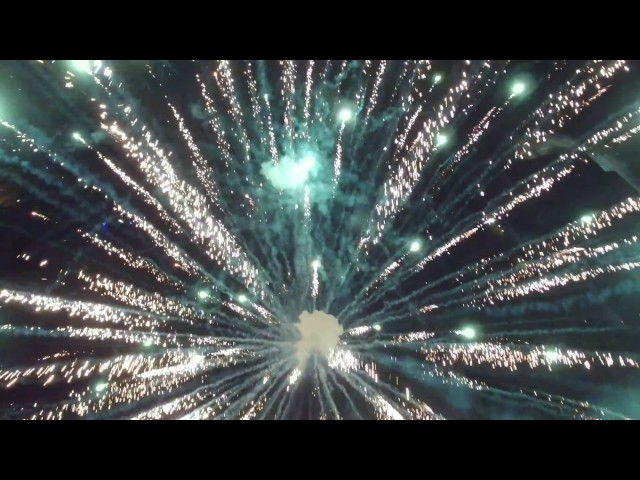 Drone Flying through Fireworks! 4th of July!